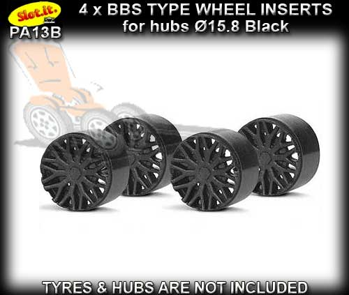 SLOT.IT WHEEL INSERT PA13B - F1 BBS Black type wheel inserts
