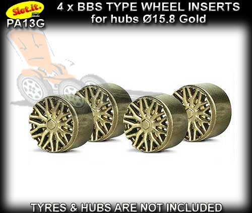 SLOT.IT WHEEL INSERT PA13G - F1 BBS Gold type wheel inserts