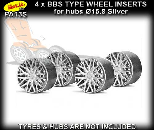 SLOT.IT WHEEL INSERT PA13S - F1 BBS Silver type wheel inserts