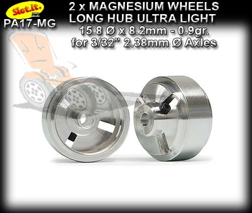 SLOT.IT WHEELS PA17-MG - 0.9gr. Magnesium 15.8 x 8.2mm L/Hub