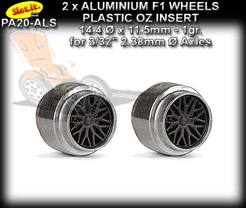 SLOT.IT WHEELS PA20-ALS - F1 1.0gr. Aluminum 14.5 x 12mm Std.Hub