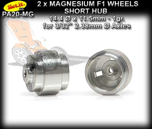 SLOT.IT WHEELS PA20-MG - F1 1.0gr. Magnesium 14 x 11.5 mm S/Hub