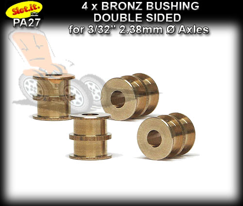 "SLOT.IT AXLE BUSHES PA27 - Double Bronze for 3/32"" 2.38mm Axle"
