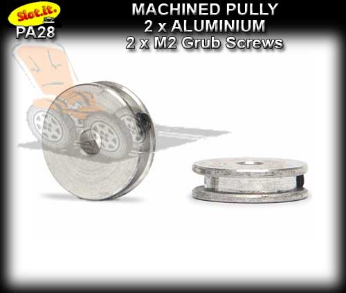 SLOT.IT AXLE PULLY PA28 - Aluminum pulley with M2 screws