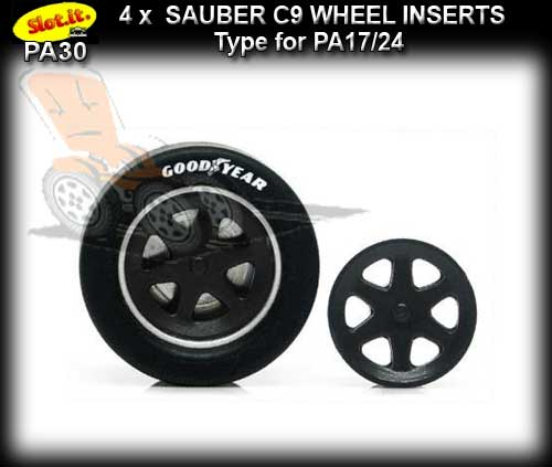 SLOT.IT WHEEL INSERT PA30 - Sauber C9 type wheel inserts
