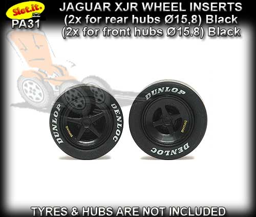 SLOT.IT WHEEL INSERT PA31 - Jaguar XJR type wheel inserts