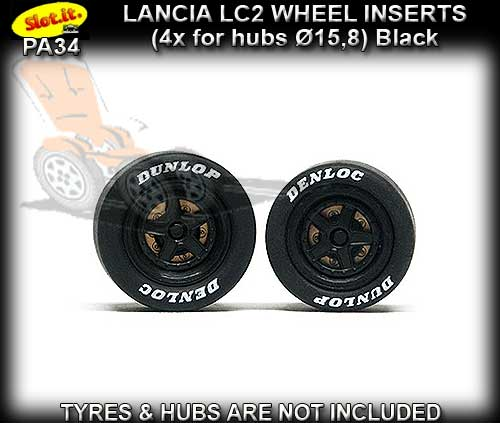 SLOT.IT WHEEL INSERT PA34 - Lancia LC2 wheel inserts