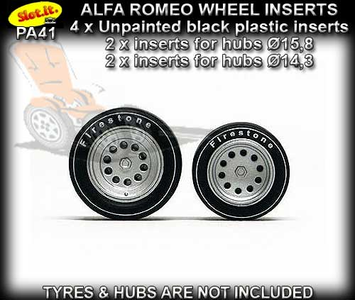 SLOT.IT WHEEL INSERT PA41 - Alfa Romeo 33/3 wheel inserts