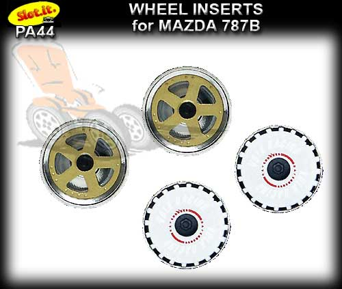 SLOT.IT WHEEL INSERT PA44 - Mazda 787B Wheel Inserts