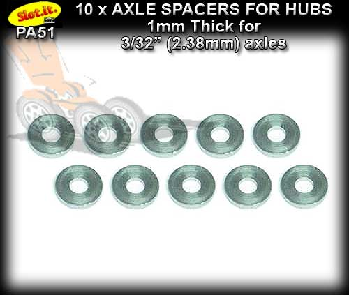 SLOT.IT SPACERS PA51 - 10 x spacers for hubs 1mm thick