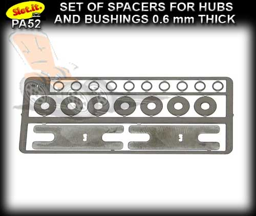 SLOT.IT SPACERS PA52 - set of spacers for hubs and bushings