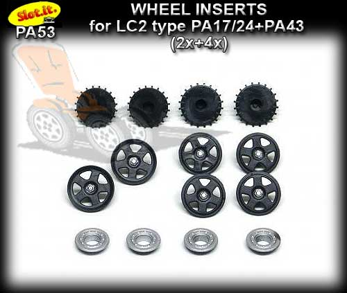 SLOT.IT WHEEL INSERT PA53 - Lancia LC2 type Wheel Inserts