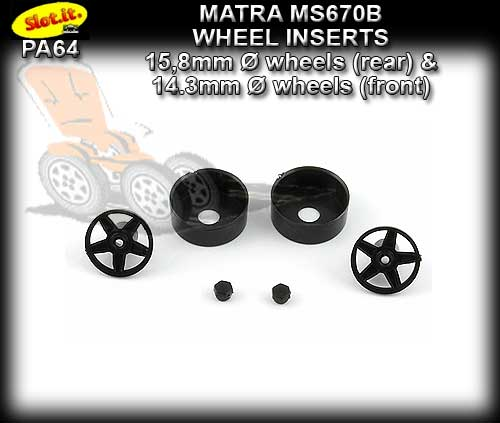 SLOT.IT WHEEL INSERT PA64 - Matra MS670B type wheel inserts