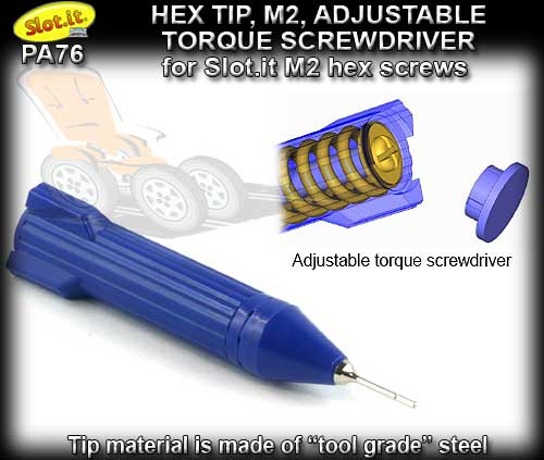 SLOT.IT ALLEN KEY PA76 - Hexagonal M2 0.95mm screwdriver