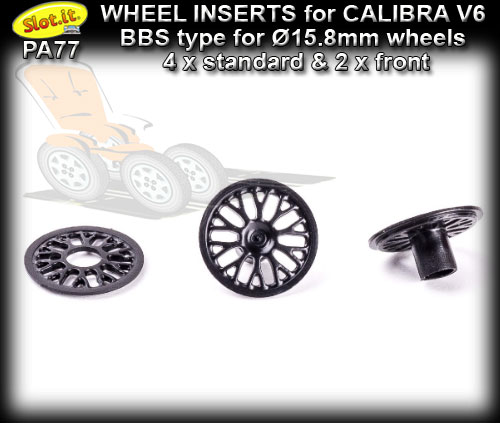 SLOT.IT WHEEL INSERT PA77 - Opel Calibra V6 BBS type for 15.8mm