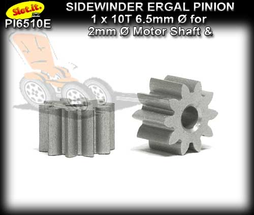 SLOT.IT GEARS PI6510E - 10T Sidewinder Ergal Pinion Gear (6.5mm)