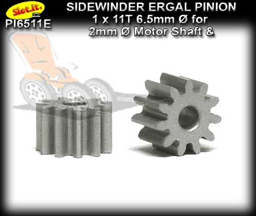 SLOT.IT GEARS PI6511E - 11T Sidewinder Ergal Pinion Gear (6.5mm)