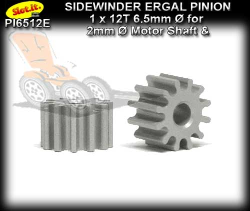 SLOT.IT GEARS PI6512E - 12T Sidewinder Ergal Pinion Gear (6.5mm)