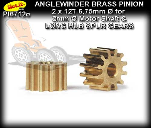 SLOT.IT GEARS PI6712o - 12 T Anglewinder Brass Pinion (6.75mm)