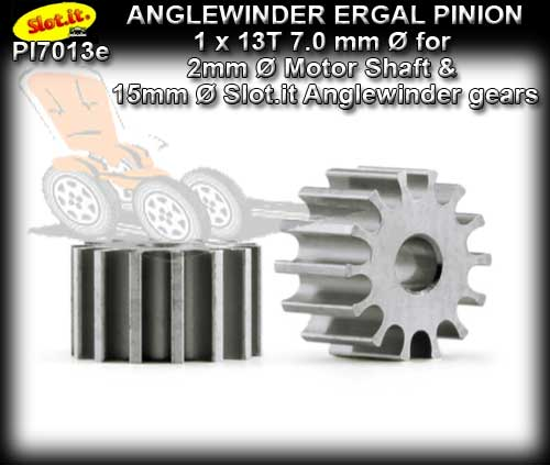 SLOT.IT GEARS PI7013E - 13T anglewinder Ergal Pinion (7.0mm)