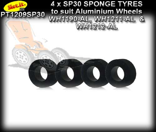SLOT.IT TYRES PT1209SP30 - SP30 Compound sponge tyres