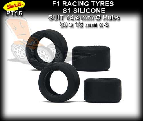 SLOT.IT TYRES PT16 - S1 Silicone Racing Tyres 20 x 12mm