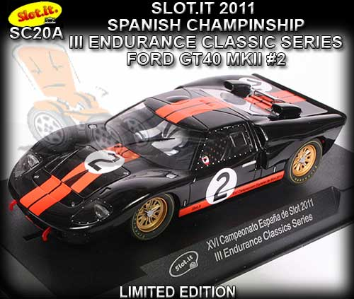 SLOT.IT SC20A - Ford GT40 MKII #2 - XVI Spain Championship 2011