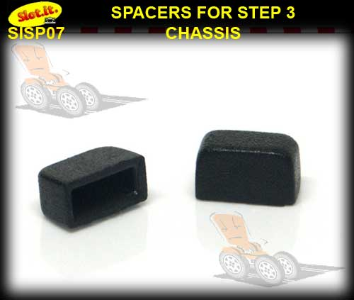 SLOT.IT SPACERS SP07 - Spacer for Step 3 Chassis