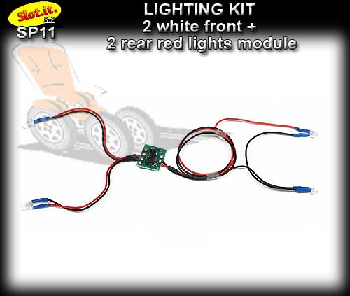 SLOT.IT LIGHT KIT SP11 - 2 white fronts + 2 red rear lights