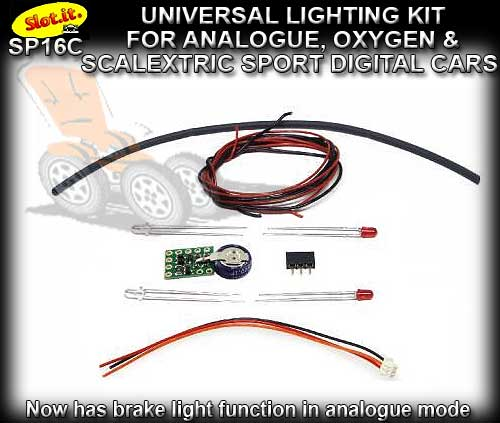 SLOT.IT LIGHTING KIT SP16C - Universal kit for Analogue SSD & O2
