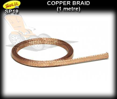 SLOT.IT BRAID SP19 - Copper Braid - 1 metre roll
