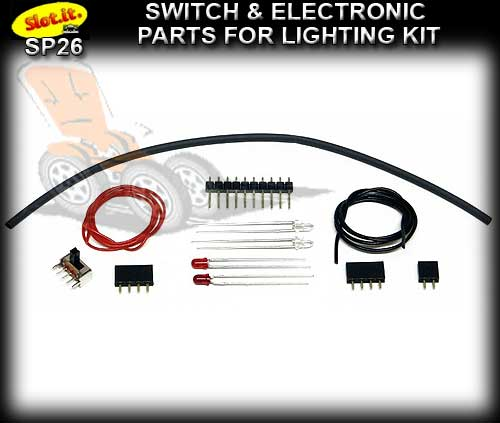 SLOT.IT LIGHTING SWITCH KIT SP26 - Switch and mixed electronic