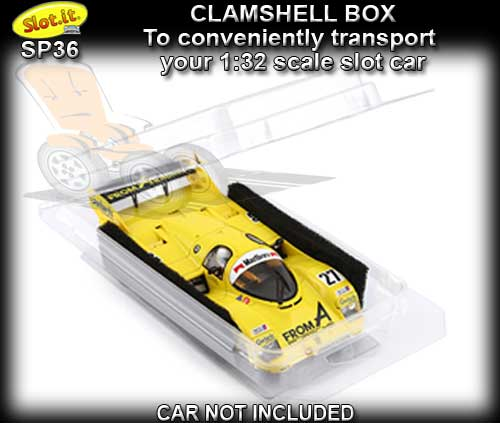 SLOT.IT DISPLAY CASE SP36 - Clamshell box for 1:32 slot cars