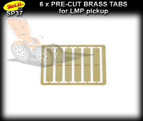 SLOT.IT BRAID SP37 - Pre-cut brass tabs for LMP pick-ups x 6
