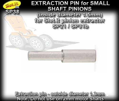 SLOT.IT GEAR PRESS/PULLER SP38 - Extraction pin for small pinion