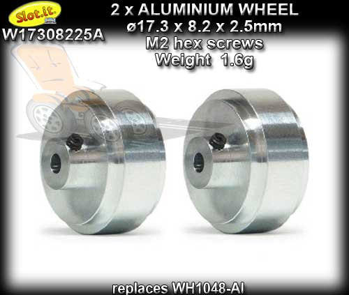 SLOT.IT WHEELS W17308225A - Aluminum 17.3 x 8.2 x 2.5 mm 1.6gr