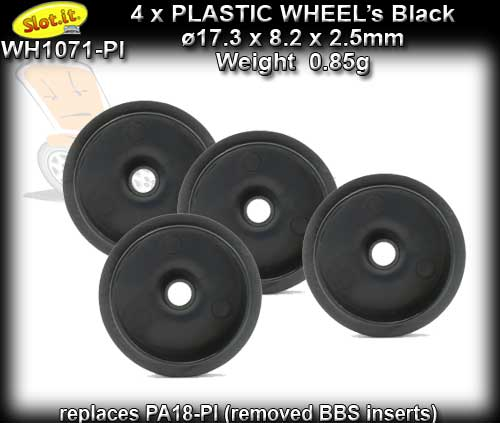 SLOT.IT WHEELS W17308225P - 17.3 x 8.2 x 2.5mm plastic 0.85g