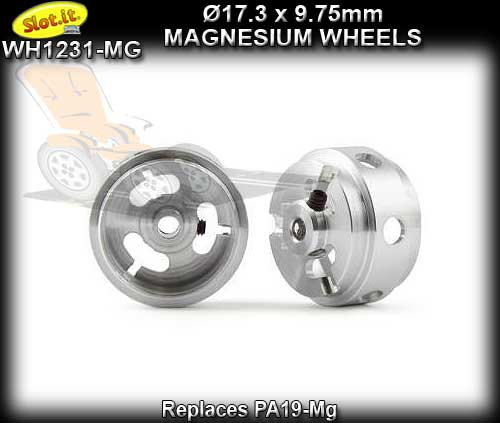SLOT.IT WHEELS PA1231-MG - Magnesium 17.3 x 9.75 x 1.5 mm Hubs