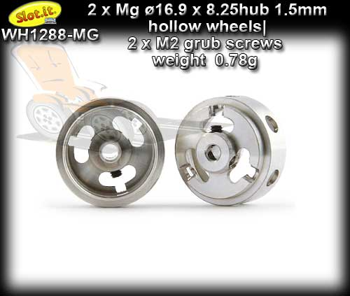 SLOT.IT WHEELS WH1288-MG - 0.78gr. Magnesium16.9 x 8.25mm 1.5mm