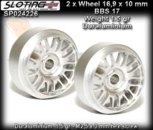 SLOTING PLUS WHEELS SP024226 - BBS 17 Alu-Magnesium 16.9 x 10mm