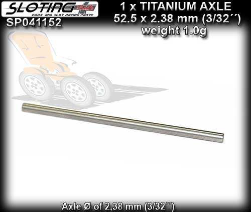 SLOTING PLUS AXLE SP041152 - Titanium Axle calibrated - 52.5mm