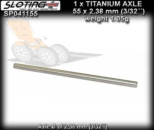 SLOTING PLUS AXLE SP041155 - Titanium Axle calibrated - 55mm