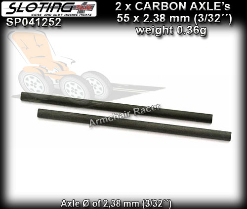 SLOTING PLUS AXLES SP0412852 - Carbon Axles calibrated - 52.5mm