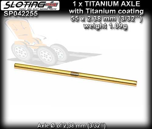 SLOTING PLUS AXLE SP042255 - Titanium Axle titanium cover - 55mm