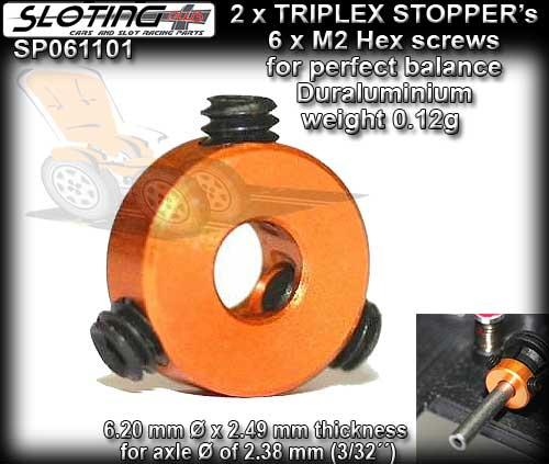 SLOTING PLUS AXLE STOPPER SP061101 - Stopper with 3 x M2 screws