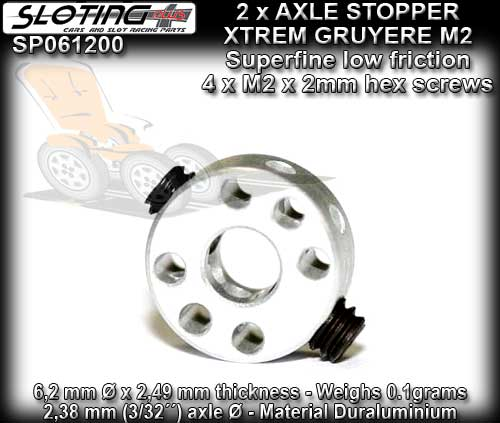 SLOTING PLUS AXLE STOPPER SP061200 - Stopper with 2 x M2 screws