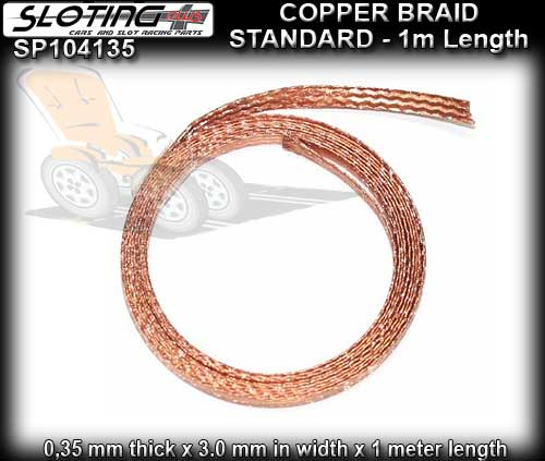 SLOTING PLUS BRAID 104135 - Copper Braid 1 metre roll