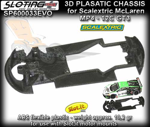 SLOTING PLUS 3D CHASSIS SP600033EVO - Scalextric McLaren MP4