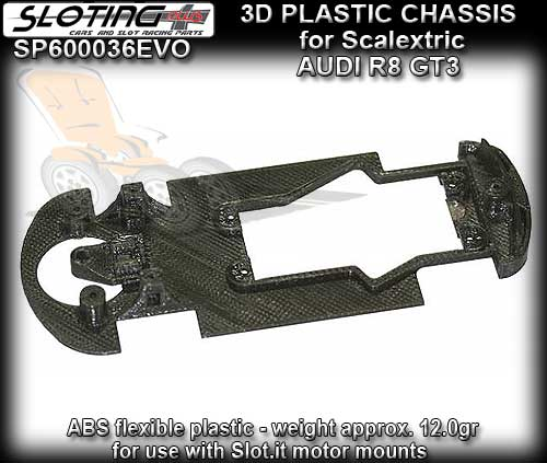 SLOTING PLUS 3D CHASSIS SP600036EVO - Scalextric Audi R8 GT3