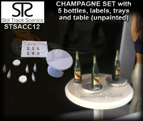 STS SCENERY ACC12 - Champagne set - bottles, trays and table